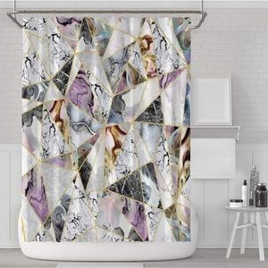 Other - Paisley Shower Curtain Marble Purple Modern